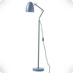 Smoke blue floor lamp