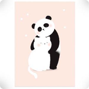 Affiche tendre panda