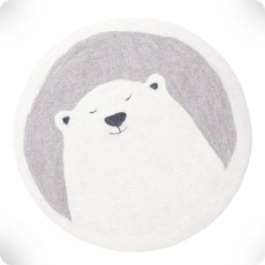 Bear round rug, diam. 120 cm