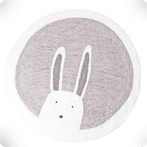 Rabbit round rug, diam. 120 cm