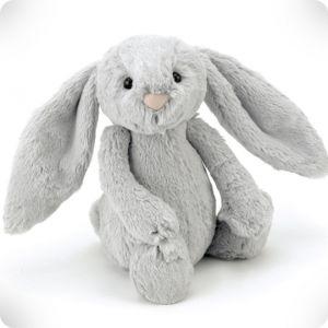 Doudou lapin silver Bashful