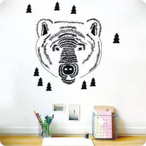 Grizzly head sticker