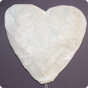 Heart shaped wall lamp fitting
